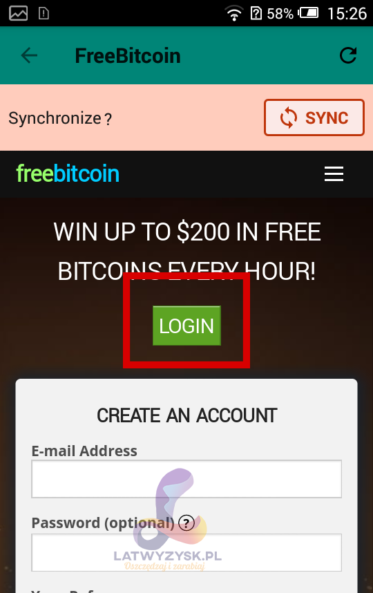 Bot FreeBitcoin krok 3