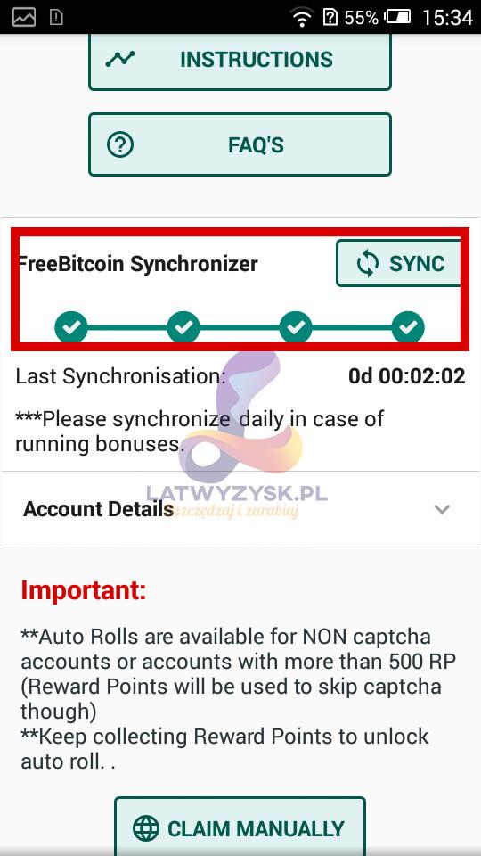 Bot FreeBitcoin Konfiguracja