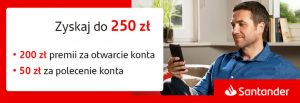 [HIT] 200 zł od Santander Bank Polska – Konto za zero!<div class='yasr-stars-title yasr-rater-stars-visitor-votes' id='yasr-visitor-votes-readonly-rater-4f57783d3a462' data-rating='0' data-rater-starsize='16' data-rater-postid='1357'  data-rater-readonly='true' data-readonly-attribute='true' data-cpt='posts' ></div><span class='yasr-stars-title-average'>0 (0)</span>